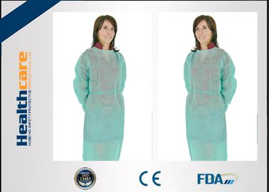 PP 22gsm Disposable Isolation Gown 115x127cm Elastic Cuff With Long Sleeve Gown